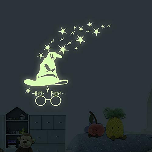 akeke Glow in The Dark Stars Harry Potter Peel and Wall Decals - Harry Potter Gifts Wall Stickers for Boys Girls Bedroom Home Door Window Wall Decor ()