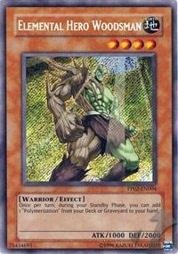 Yu-Gi-Oh! - Elemental Hero Woodsman (PP02-EN004) - Premium Pack 2 - Unlimited Edition - Secret Rare