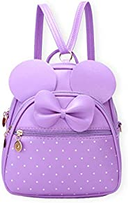 KL928 Women Bowknot Polka Dot Cute Mini Backpack Small Daypacks Convertible Shoulder Bag Purse