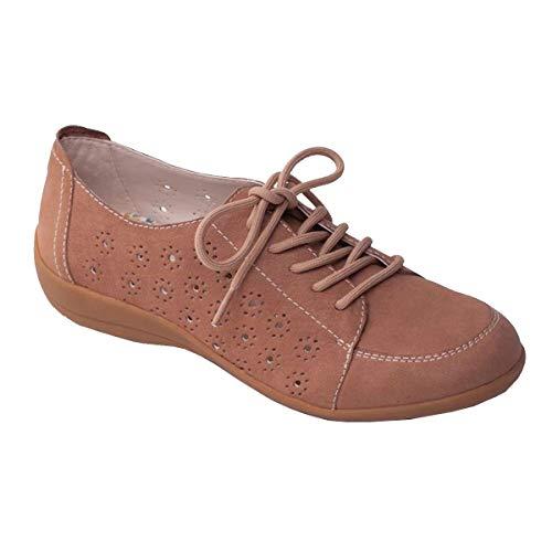 Zapato Beige 'darcy' Las Anchura Del Zapatos Cordones Ligeros Padders Extra Talón Grande Cuerno Libre Mujeres 25mm Con De Cuero Ee HnXwYxqfR