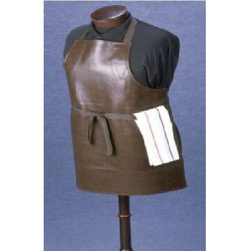 Bib Apron, Vinyl Brown, Heavy Duty -- 12 Count by John Ritzenthaler Co