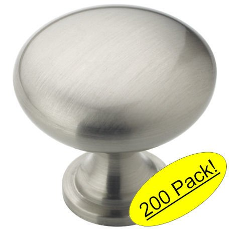 Amerock BP53005-G10 Allison Satin Nickel Round Cabinet Knob by Amerock (Allison Round Wood)