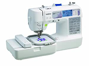 Brother SE400 Combination Computerized Sewing 4x4 Embroidery Machine 67 Built-in Stitches, 70 Built-in Designs, 5 Lettering Fonts