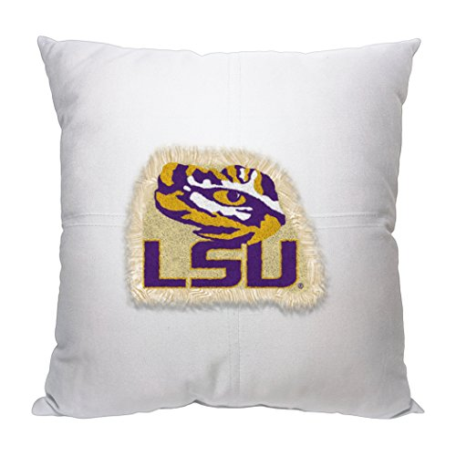 Officially Licensed NCAA LSU Tigers Square Toss Pillow, (Lsu Tigers Square)