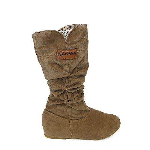 Woods Watch Tiger Ladies (HYIRI Autumn Winter Shoes,Woman Knee High Boots Flat Heel Nubuck Motorcycle Boot)