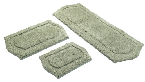 Chesapeake Merchandising 3-Piece Paradise Memory Foam Bath Rug Set, Sage