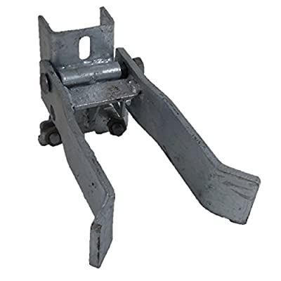 "3"" Chain Link Fence STRONG ARM Commercial SINGLE GATE LATCH: Heavy Duty: 1-5/8"" - 1-7/8"" (2"") Gate Frame to 3"" Fence Post (Strudy gate latch to close single chain link gate on large post. Can be used of other pipe post gates.)"