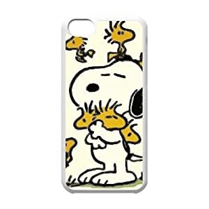iPhone 5c Cell Phone Case White Charlie Brown and Snoopy 005 HIV6755169549863