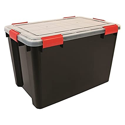 1 x 70 litros Extra grande weathertight hermético negro/plástico transparente húmedo área de almacenamiento