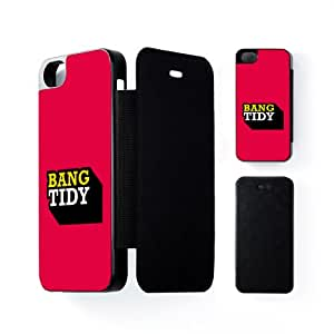Bang Tidy Black Flip Case Snap-On Protective Hard Cover for Apple? iPhone 5 / 5s by Chargrilled + FREE Crystal Clear Screen Protector