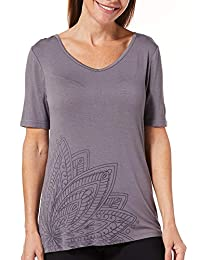 Gloria Vanderbilt Women's Sleep Top | Loose Fit V-Neck Pajama T-Shirt