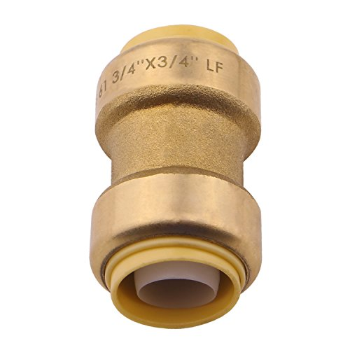 umbing Fitting, 3/4 Inch, PEX Fittings, Push-to-Connect, Coupler, Copper, CPVC, Pack of 1 ()