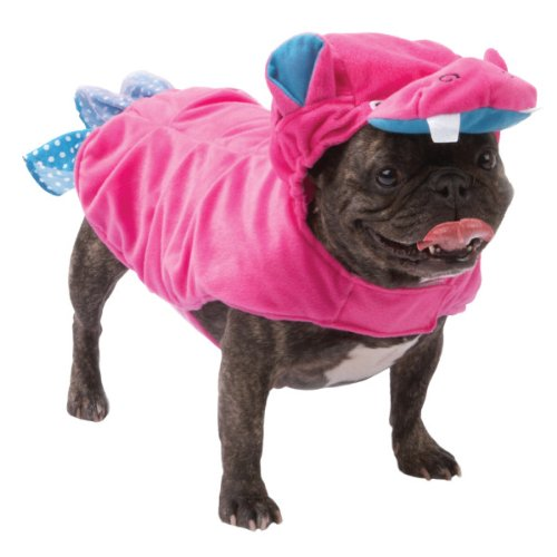 [Pink Hippo Dress Up Dog Costume (X-Small)] (Costumes For Drama)