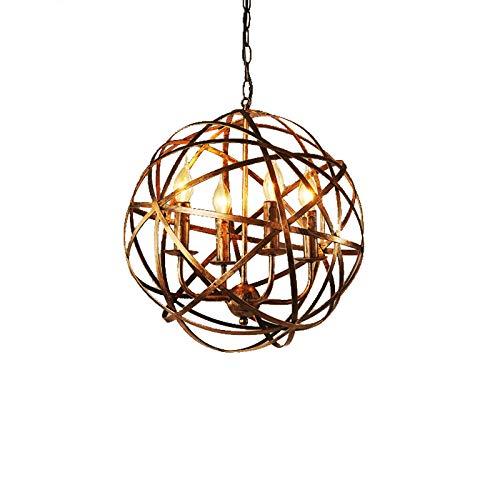 JinYuZe Retro Industrial Pendant Lighting,Metal Cross Orb Lamp,Suspended Metal Globe Candle-Style - Lighting Pendant Castle