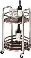 HJXSXHZ366 Estantería de Vino Herramienta de Belleza Leche Estante móvil té Cesta de la Compra del Vino Snack-Car Hotel Trolley Trolley Trolley la Cesta Estante de Vino pequeño (Color : Silver)