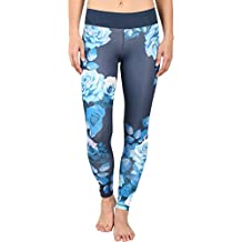 adidas Women's Workout Mid-Rise Long Tights - Around The World Prints Mineral Blue Print Europe Pants LG X 27