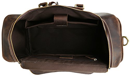 Polare Real Leather Vintage Travel Luggage Duffle Bag /Gym Bag/ Overnight bag by Polare (Image #5)