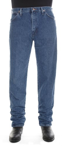 Wrangler Men's Cowboy Cut Original Fit Jean, Stonewashed, 42X30