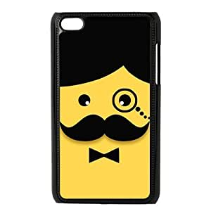 Custom Your Own Personalized Funny Mustache Face Ipod Touch 4 Case, Snap On Hard Protective Mustache Ipod 4 Case Cover