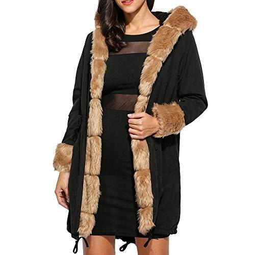 Women's Coat KpopBaby Warm Jacket In The Long Hooded Large Size Coat Jacket WindbreakerTops Knitting Scarf ()