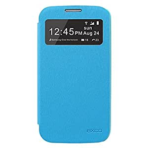 PEACH Light Blue EXCO Candy Series Leather Case for Samsung S4