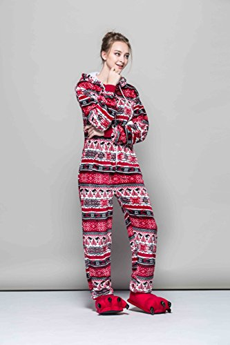 Piece Bird Cosplay Imprimé Honeystore Jumpsuit Costume Pyjama One Red Femme E4cwqBpv