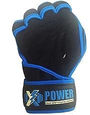 قفازات XPOWER عالية الجودة جيدة التهوية لرفع الأثقال مع أغطية المعصم - رائعة للسحب والتمارين الرياضية وتدريبات التمارين الرياضية ورفع الأثقال - تناسب الرجال والنساء