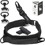Long Outdeer 2-Point Sling for Rifle with 2-Pack Swivel Mounts, Paracord Gun Sling with D-Ring Loop for Quick-