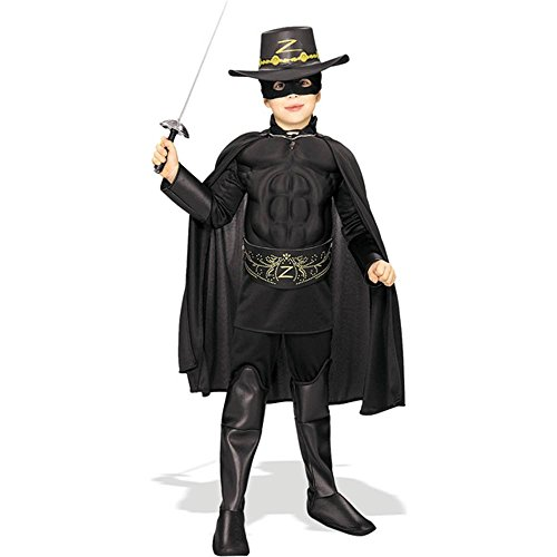 Muscle Chest Zorro Child Costume - Large
