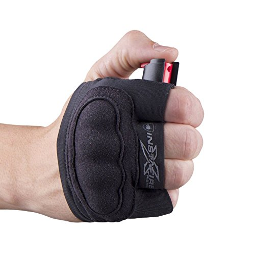 Guard Dog Instafire Xtreme Self-Defense Pepper Spray for Running and Jogging with Knuckle Defense, Fits in Hand, Sweatproof, Black