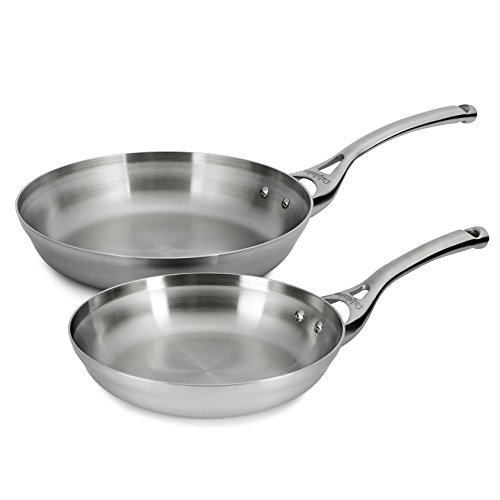 Calphalon Contemporary Stainless 8 & 10 Inch Fry Pan Set (Frying Pan Stainless compare prices)