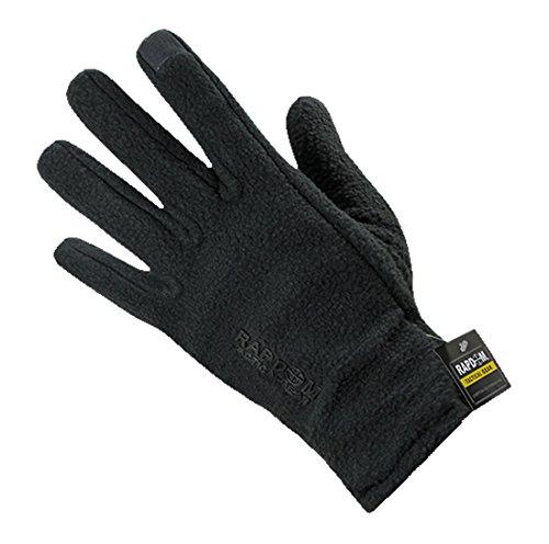 RAPDOM Tactical Polar Fleece Gloves, Black, Large by RAPDOM