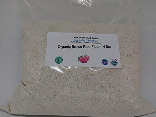 (Brown Rice Flour 4 Pounds (four lbs) Organic USDA Certified, Non-GMO, BULK.)