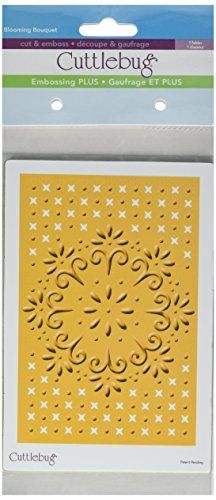 Cuttlebug Provo Craft Plus A2 Embossing Folder, Blooming Bouquet
