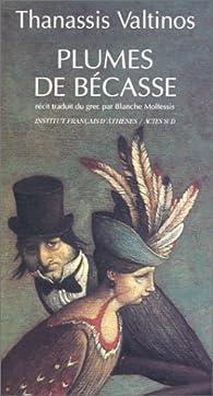 Book's Cover ofPlumes de bécasse