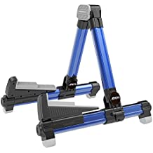 Aroma Aluminum Floor Stand Blue AGS8 Adjustable for All Types of Guitars and Basses Foldable to Easily Carry Steady Stand Safe Protection
