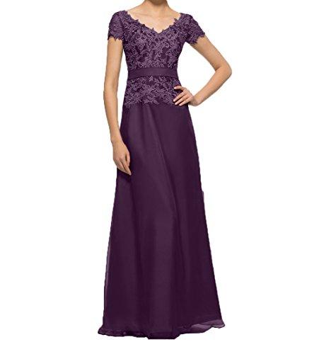 Charmant Lang linie Traube Partykleider Damen Brautmutterkleider Kurzarm A Spitze Elegant mit Abendkleider Promkleider rfrqz8wx