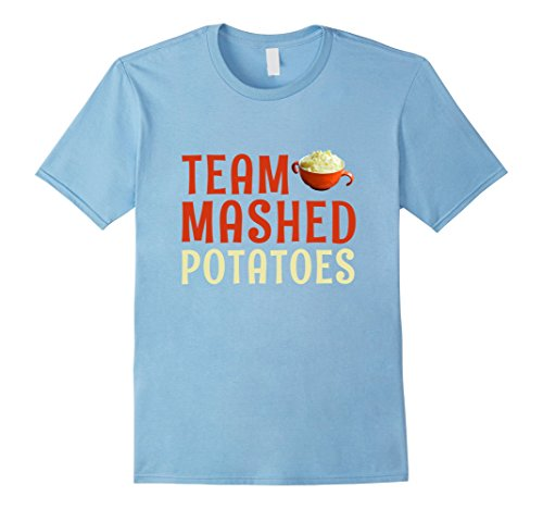 Mens Team Mashed Potatoes T-shirt Thanksgiving Matching Costume XL Baby - Spice Boots Baby