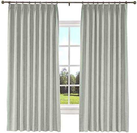 TWOPAGES 150 W x 96 L inch Pinch Pleat Blackout Curtain