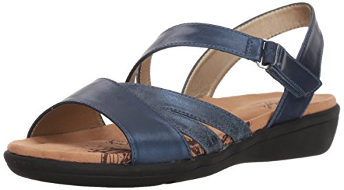Sandalo Donna In Morbido Stile Pavie True Navy Vitello