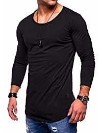 BEHYPE Men's Slim Fit O-Neck Long Sleeve Muscle Tee T-Shirt Casual Tops MT-7315