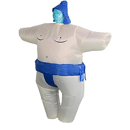 Purim Women - Purim Inflatable Sumo Costume Suits Wrestler Halloween Men Women Adults Kids Fat Man Airblown - Party Decorations Party Decorations Suit Wrestler Float Flower Rainbow Huawe ()