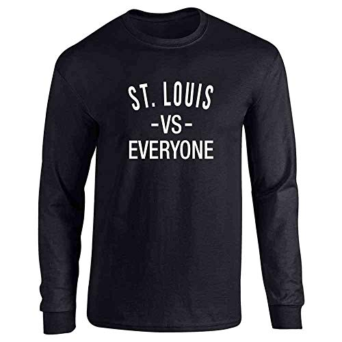 St Louis vs Everyone Sports Fan Black L Long Sleeve T-Shirt