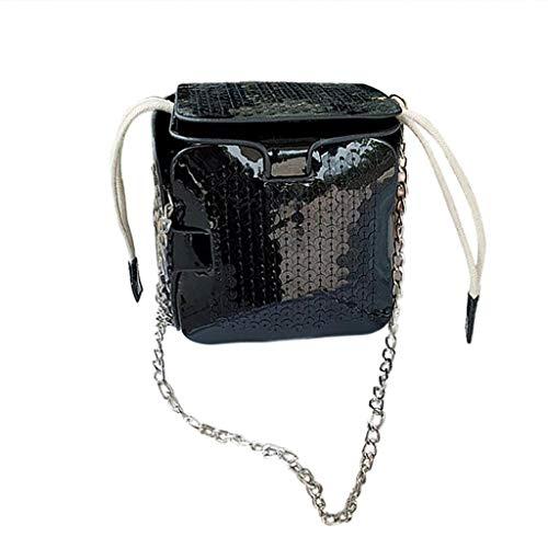 2DXuixsh Women Sequins Clutch Bags Glitter Square Bag Crossbody Bag Shoulder Strap New Wild Fashion Messenger Purse