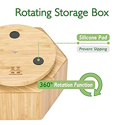 Multi-Function Bamboo Rotating Organizer