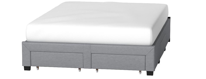 DG Casa Cosmo Upholstered Platform Bed Frame Base