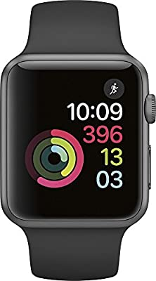 Apple Watch Series 1 38mm Smartwatch (Space Gray Aluminum Case with Black Sport Band)