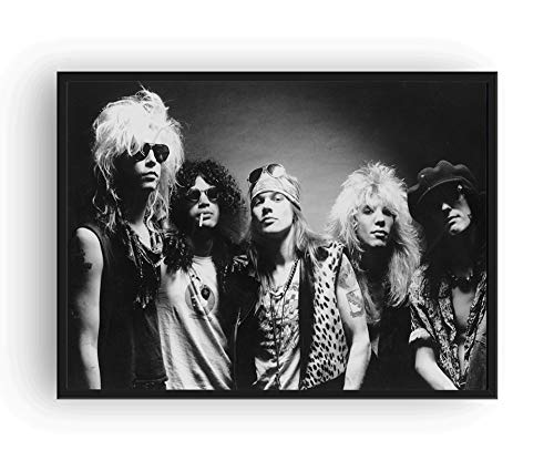 Suppwee Guns N Roses Poster Black and White (24x36)