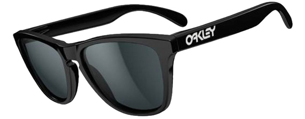 Oakley Frogskins Sunglasses (Matte Black Frame Polarized Black Mirror Lens) by Oakley