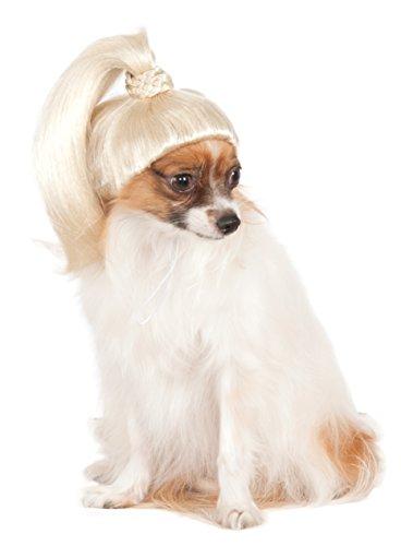 Pet Wig Blonde Ponytail, Small/Medium -